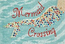 "Area Rugs - ""Mermaid Crossing"" Indoor Outdoor Rug - 20"" x 30"" - Nautical Decor"