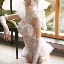 Femme Sexy Lingerie Costume Mariage Bride Mariée Nuisette Dentelle Cosplay