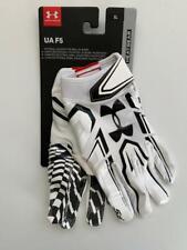 Under Armour F5 Men's Xl Football Custom Fit Nfl Skill White Grabtack Gloves New