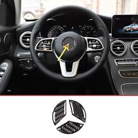 Mercedes Benz C Class W205  GLC-Class X253 Carbon Fiber Steering Wheel Sticker