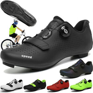 Professional Men's Road Cycling Shoes Bicycle Sneakers Bike Trainers Spd Cleats