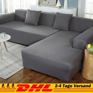 2stk Sofabezug stretch elastische Sofahusse Abdeckung Für L Form Schnittsofa DHL