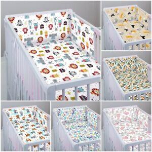 3 pc LUXURY COT/COT BED BABY BEDDING SET bumper quilt pillowcase ANIMALS SAFARI