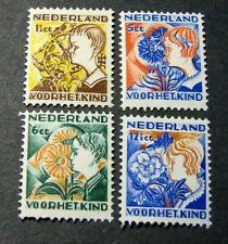 Netherlands Semi-Postal Scott# B58-B61 Child Welfare Societies 1932 MH  C540