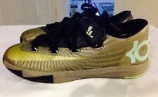Nike KD Boys Youth Sneakers Gray Gold Low Top Lace Up Size 1.5Y