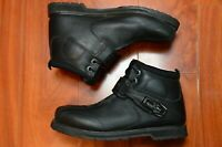 Icon Super Duty 4 Black Leather Motorcycle Boots Men's Size 7