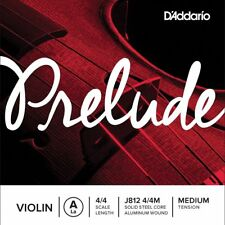 D'Addario Prelude Violin Single A String, 4/4 Scale, Medium Tension