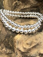 Sia 925 sterling silver elasticated stacking bracelet