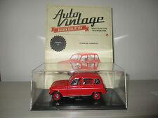 RENAULT 4L 1962 CON FASCICOLO AUTO VINTAGE SCALA 1:24