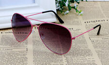 Marco De Color Rosa Negro Lentes De Sol De Aviador Retro Clásico UV400 para hombre señoras UK