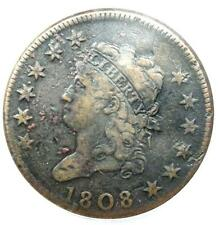1808 Classic Liberty Large Cent 1C - ANACS VF30 Details - Rare Date Penny!