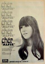 CHER 1966 original POSTER ADVERT ALFIE imperial