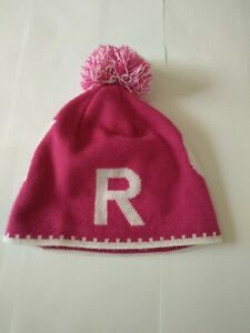 Roxy Teen BEANIE NEW Pink and white