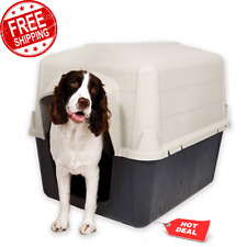 "Pets Home 32"" Dog House Shelter for Medium Size Dog Traditional Style Design New"