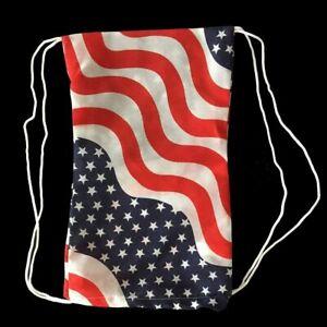 BOGO American Flag Bag Draw Lightweight Backpack Back pack unisex school USA