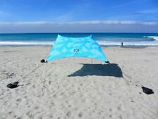 Neso Tents Beach Tent with Sand Anchor, Portable Canopy Sun Shelter (Aqua Frond)
