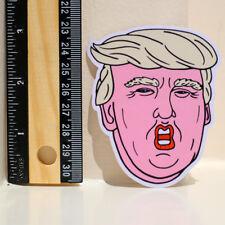 Donald Trump POTUS weird mouth Cartoon 7x8cm DECAL STICKER #4333