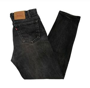 VINTAGE Levi's 550 Made In Canada Relaxed Fit Tapered Leg Black Jeans W33 x L32