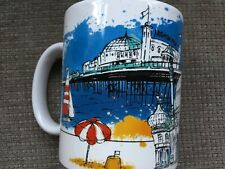BRIGHTON LANDMARKS ART SOUVENIR CHINA MUG PAVILION PALACE PIER ARTISTIC DRAWING