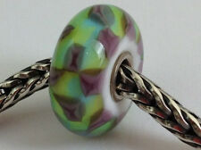Authentic Trollbeads Turquoise Purple Chess (A) Bead Charm 61368, New