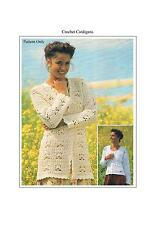 Ladies Summer Cardigans Crochet Patterns PATTERN ONLY Cotton DK