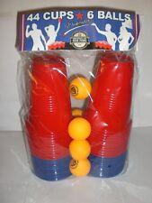 UNIVERSITY OF BEER PONG  WEEKENDER NEW IN PACKAGE  6 BALLS 44 CUPS RED/BLUE