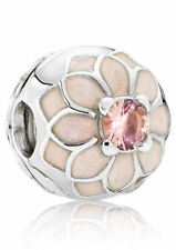 NEW Authentic Pandora Blooming Dahlia Cream & Blush Pink Clip Charm 791828NBP