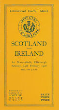 Scotland v Ireland 25 Feb 1928 Murrayfield RUGBY PROGRAMME