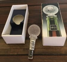 Mikasa Lead Crystal Bottle Stopper Tee Time Golf Ball Shape And Box