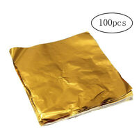 100pcs Chocolate Candy Wrappers Aluminium Foil Paper Wrapping Paper Square Paper