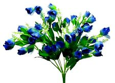"""36 Mini Roses Artificial 1"""" Buds Silk Flowers Fake Wedding Bouquets Centerpiece"""