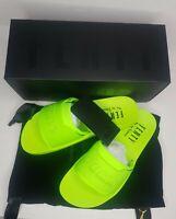 Puma Fenty by Rihanna Surf Slide Casual Sandals Green Womens Size 10.5