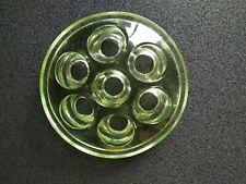 DEPRESSION GREEN GLASS FROG ART DECO