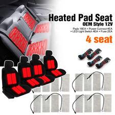 Universal Heated Pad Kit 4 Seat(16 Pads) Heater Car Truck SUV(3-Way LED Switch)