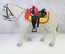 American Girl Doll SAIGE HORSE PICASSO & PARADE SADDLE Appaloosa Halter Blanket+