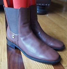 Cole Haan Womens Stretch Ankle Boots Chocolate Brown Leather Slip On Size 7 B