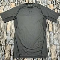 UNDER ARMOUR MEN SIZE LARGE TALL COMPRESSION HEAT GEAR GRAY T SHIRT EUC