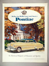 Pontiac Motor Car PRINT AD - 1951