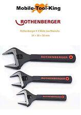 ROTHENBERGER X 3 MASCELLA LARGA wrenchs + protettori della mascella 34, 38, 50mm