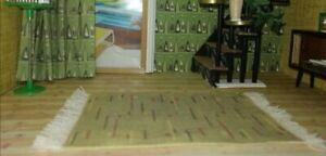Mid Century Dolls House 1:16 lundby size. set of three MCM rugs