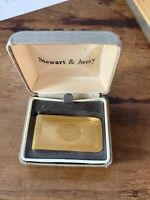 "Stewart and Avery Mens Gold tone Money Clip Engraved with initials ""JK"""