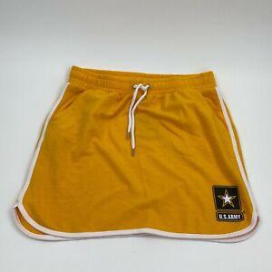 Victoria's Secret PINK Collegiate Collection Drawstring Mini Skirt  Yellow M NWT