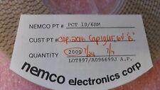 (2000 PC REEL PER LOT) CAPACITOR TANTALUM B-CASE 10uF 6V 20% SMD