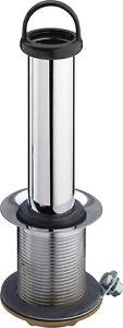 """Standrohrventil 1 1/2"""" D 70mm L 70mm m.KS-Konus Wasserst.120mm verchr.Viega"""