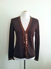 Effortless Style! Chelsea Design size M chocolate knit in excellent condition