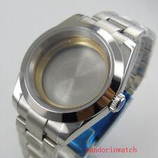 watch case with bracelet fit ETA 2836 MIYOTA 8215 automatic movement watch men