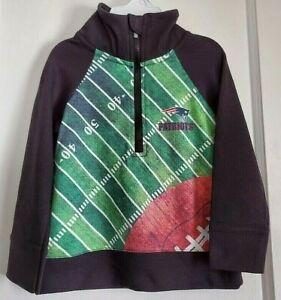 NWT NFL New Eng. Patriots 1/4 Zip Pullover Jacket Baby Boys 18M Gerber Blk/Multi