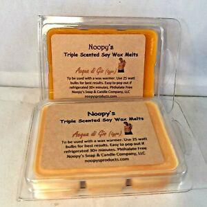 2 AQUA DI GIO type* TRIPLE Scented NOOPY'S Soy Wax Candle Melts Tarts Kosher