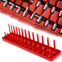 Socket Tray Rack Holds Sockets 1/4'' 3/8''1/2'' Rail Tools Organizer Holder