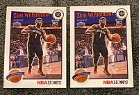 Zion Williamson - 2019-20 NBA Hoops Premium Stock - 2 Card Base Tribute Rookies